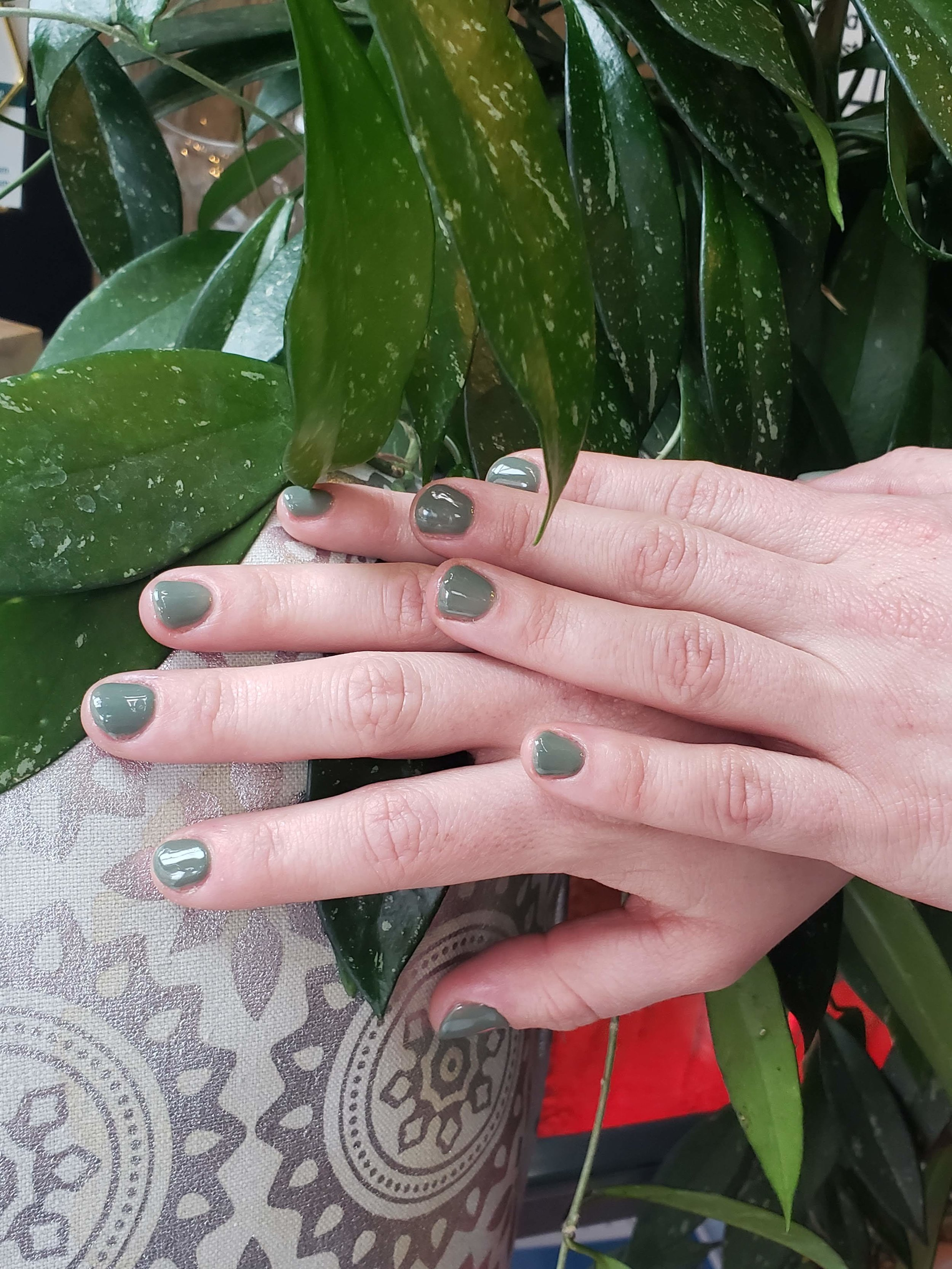 Sage Green, Green Mani, Bio Sculpture Gel, Gel Nails,