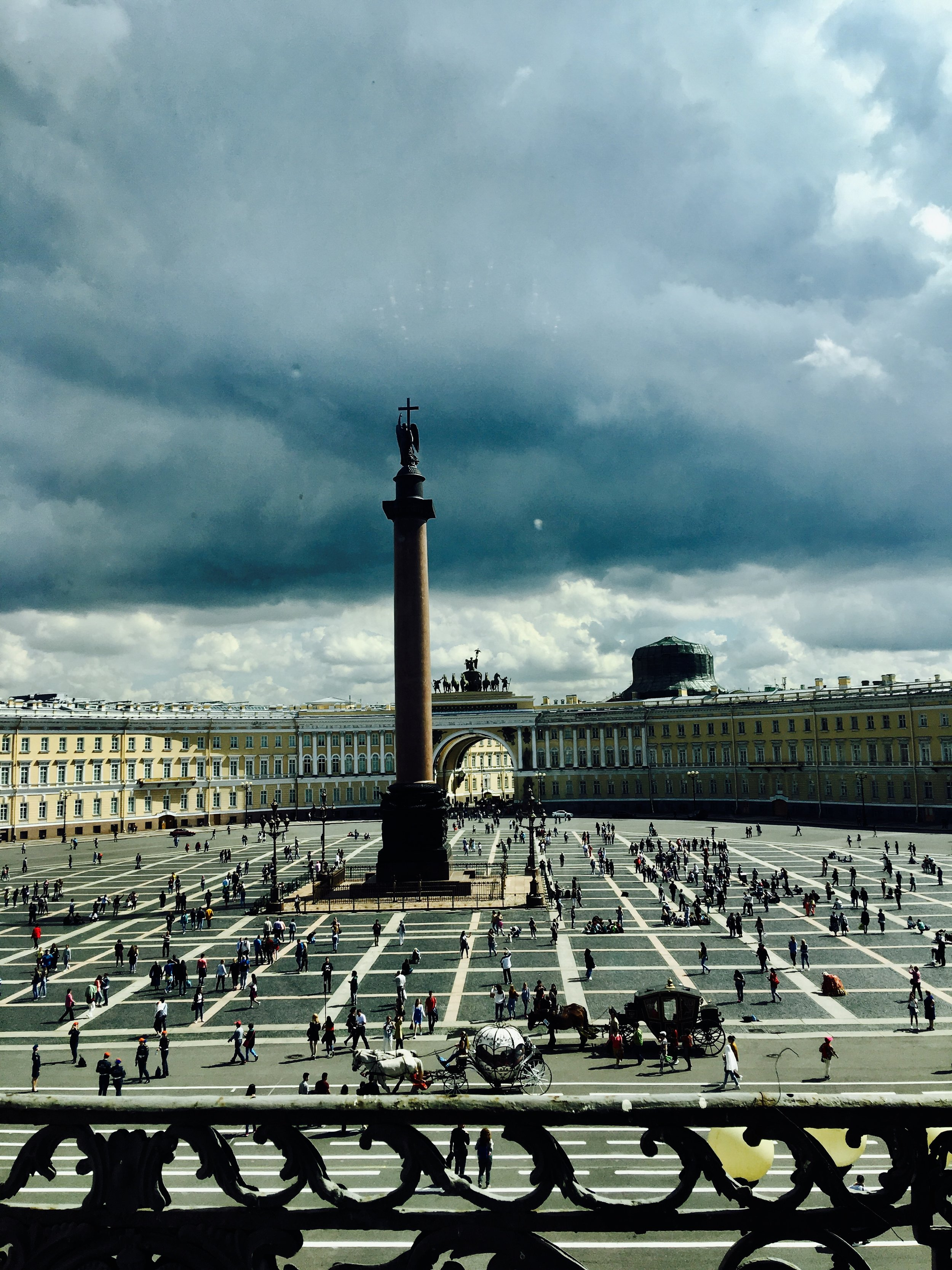 St. Peter's Square shot from inside The Hermitage