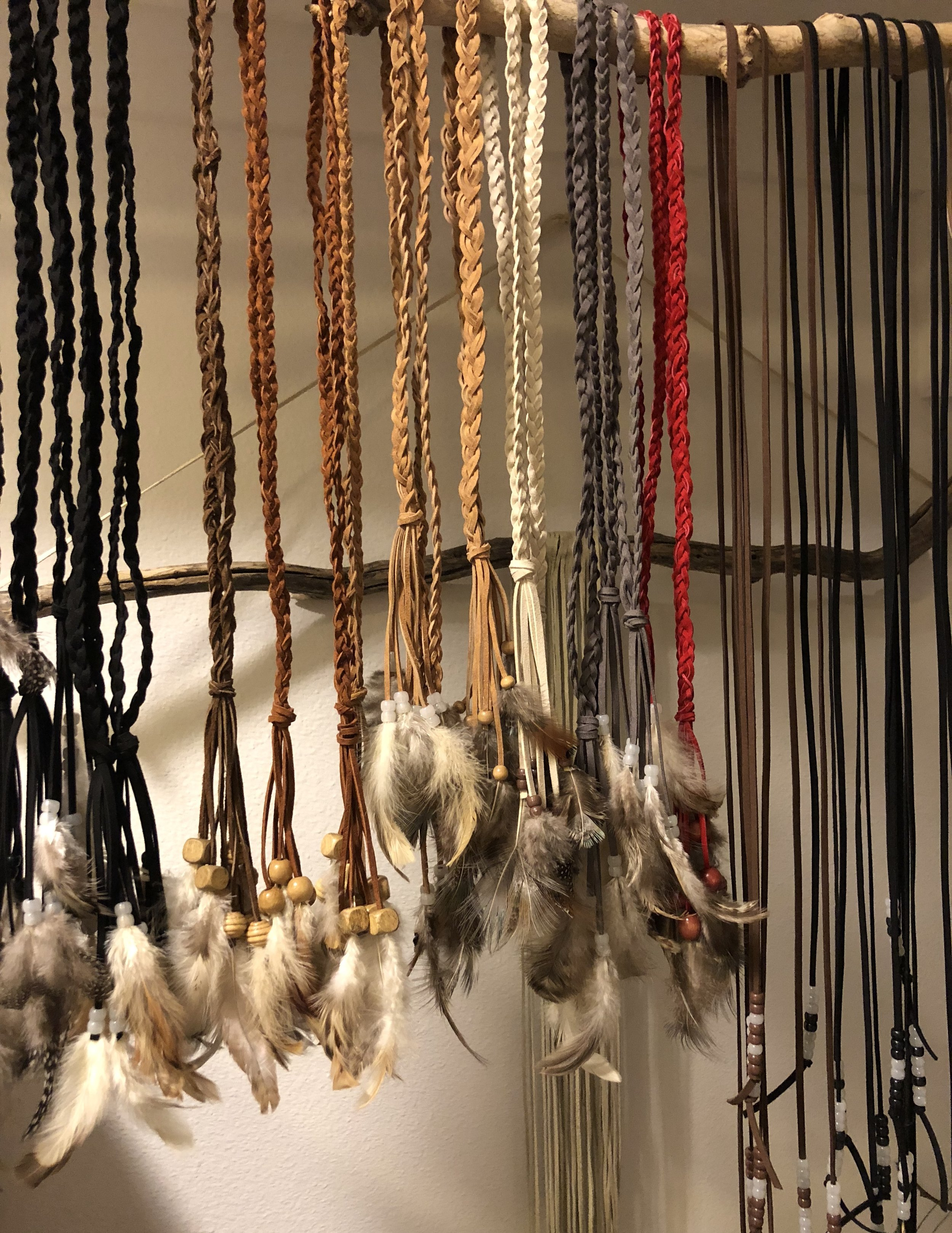 Handmade dreamcatcher necklaces