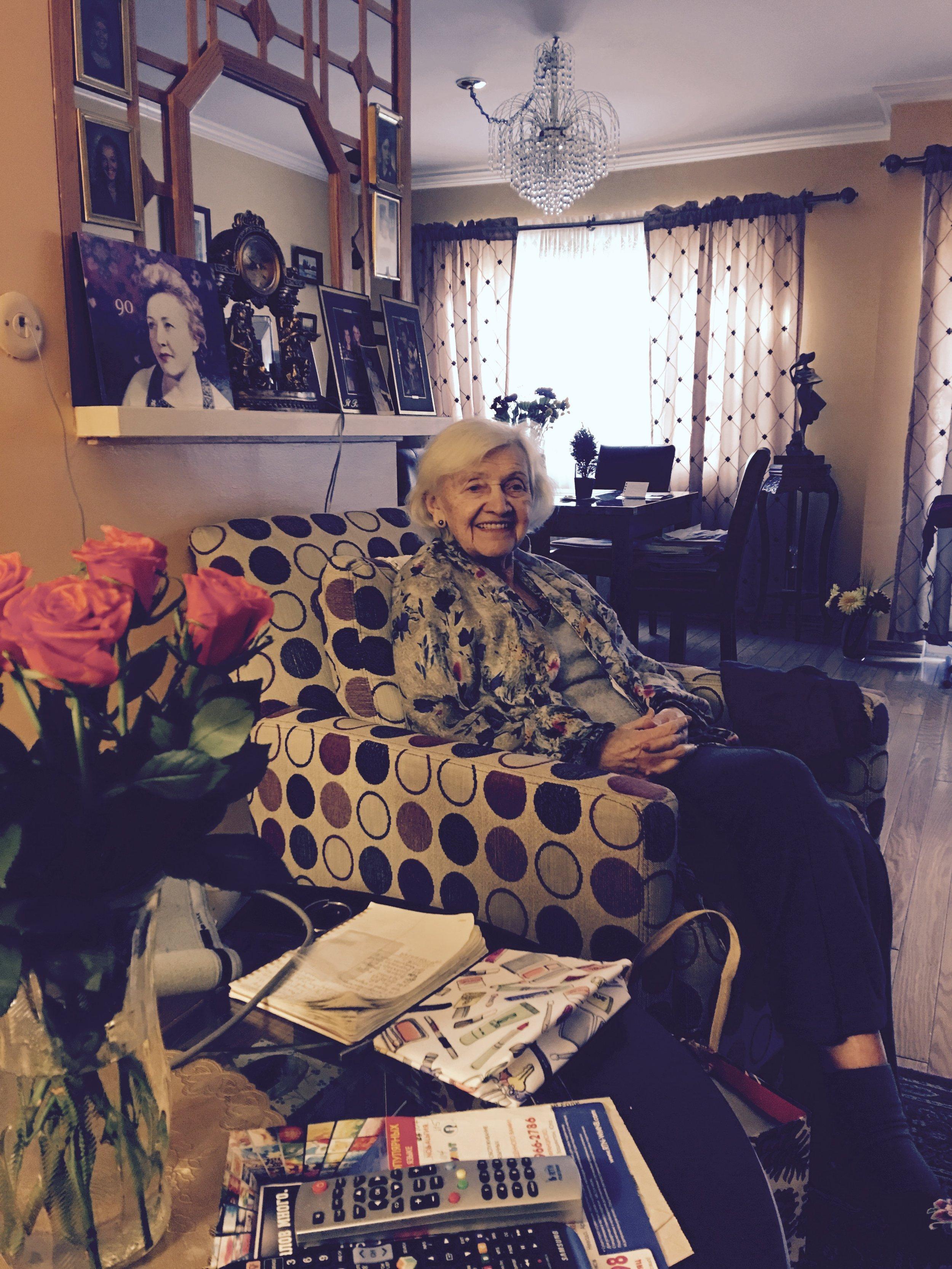 Grandma in her favorite reading chair