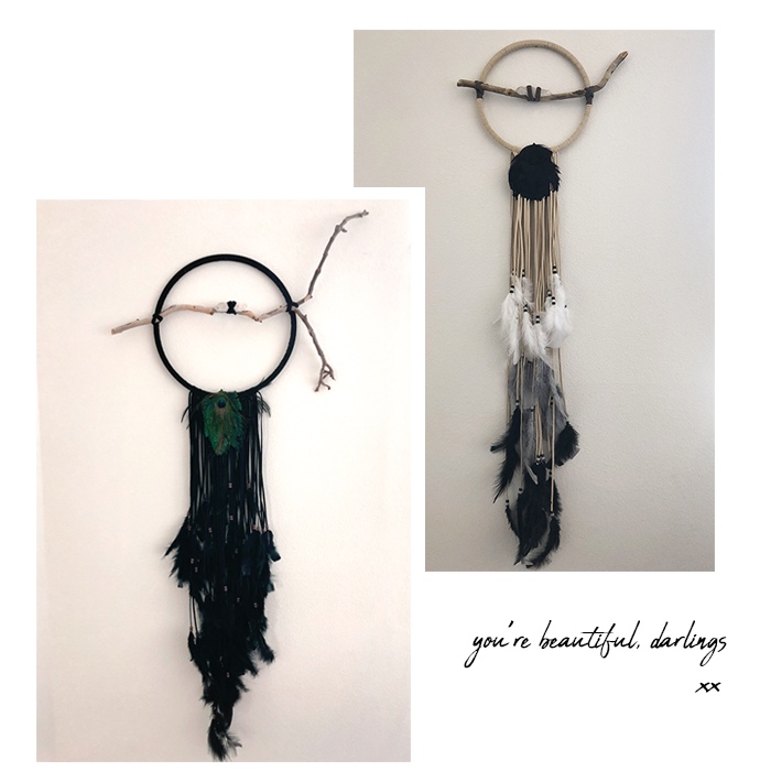 You're beautiful darlings. Custom dreamcatchers Simone and Nadine