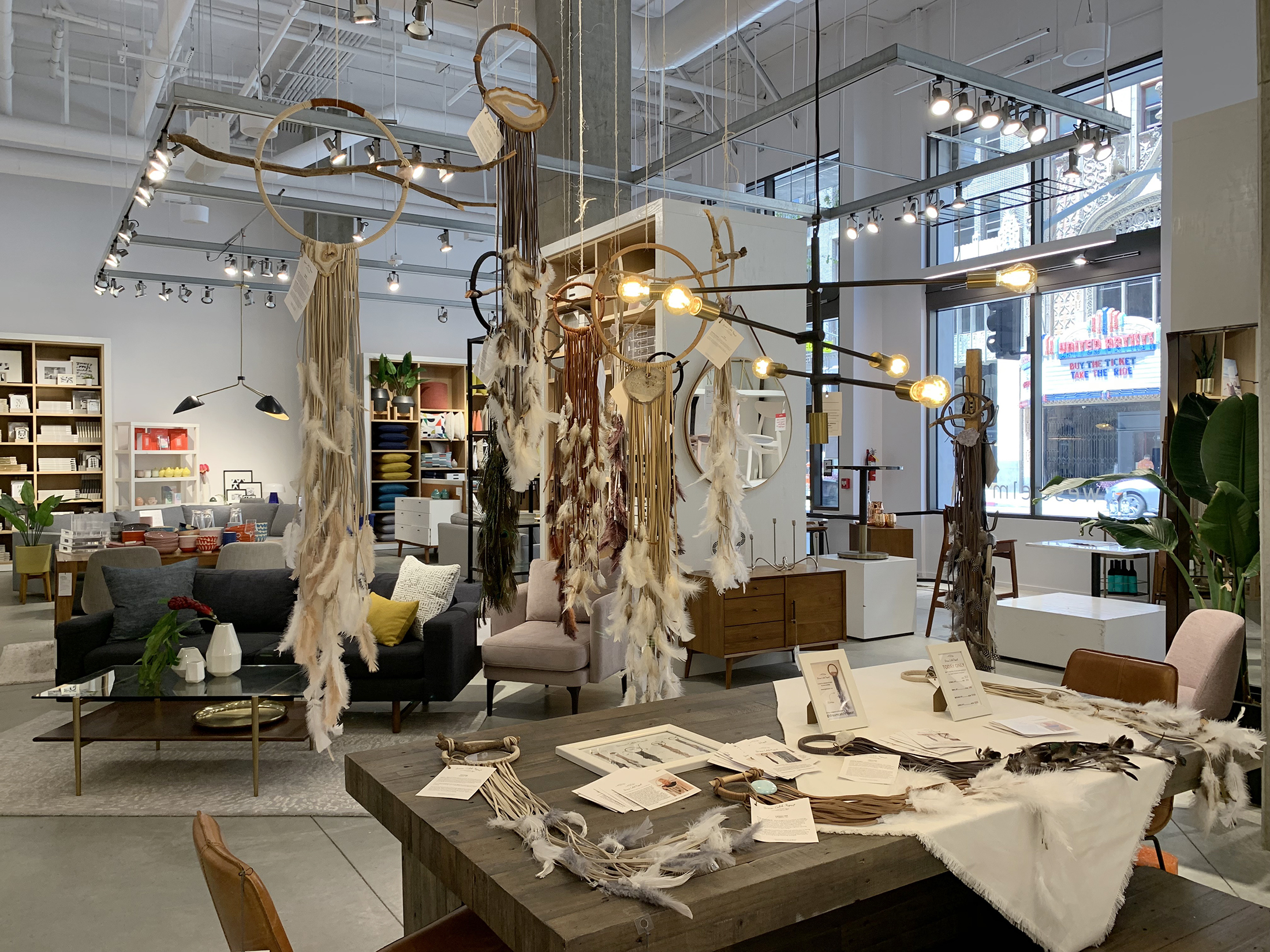West Elm DTLA pop up, dreamcatchers