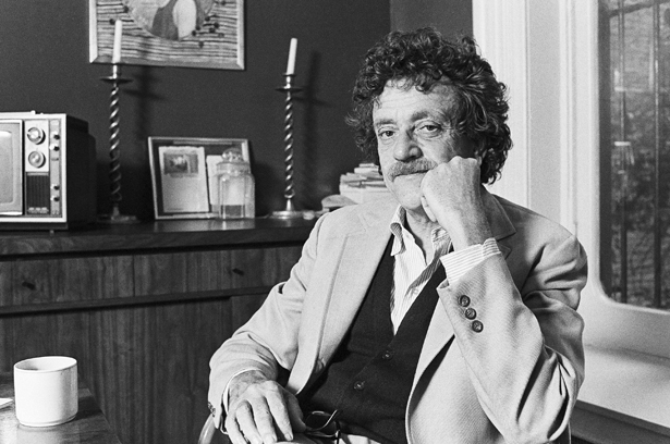 Author Kurt Vonnegut Jr. in New York City in 1979. (AP Photo/Marty Reichenthal)