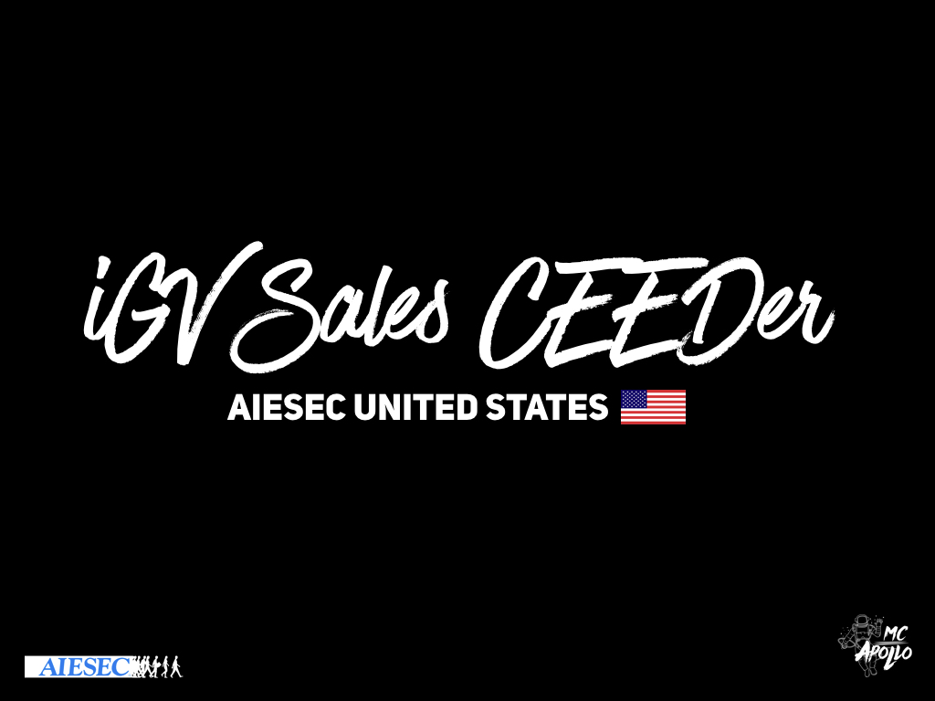 iGV Sales CEEDer Opportunity - Submit your application here:bit.ly/usigvsalesceeder