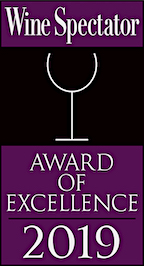 Wine Spectator 'Award of Excellence' Wine Program since 2016