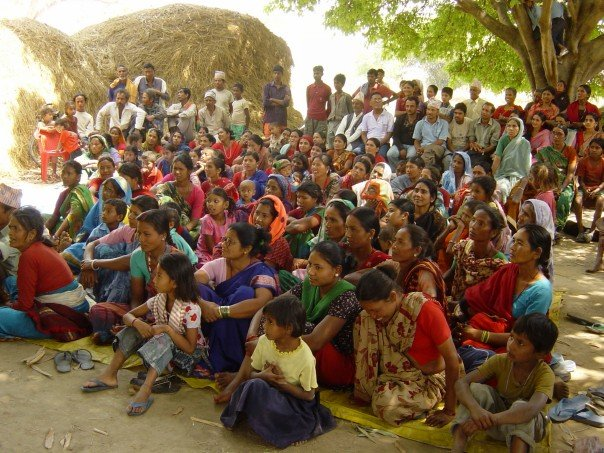 An arsenic awareness workshop in a rural village;  http://www.filtersforfamilies.org/