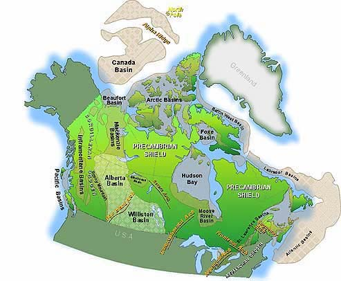 Location of Major Sedimentary Basins Across Canada