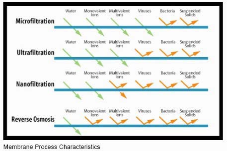 Substances Removed From Water By Membrane Filtration Processes;