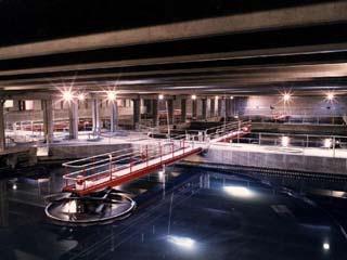 Settling Tanks at the Winnipeg Wastewater Treatment Plant