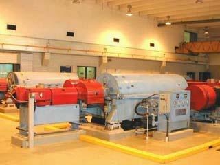 Centrifuge at the Winnipeg Wastewater Treatment Plant