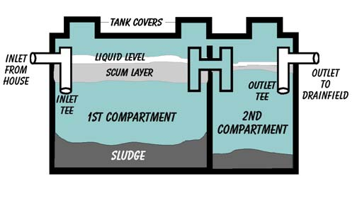 Inside of Septic System