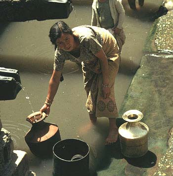 Collecting Water in Jugs