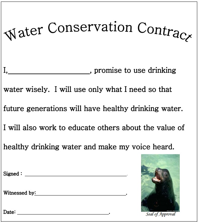 Water Conservation Contract