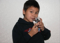 Many First Nations children live in First Nations communities with drinking water advisories. These children do not know what it's like to be able to drink a glass of water straight from the tap.