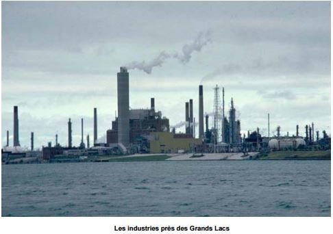 Les industries près des Grands Lacs