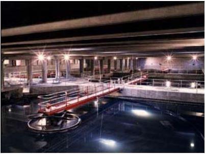 Réservoirs de l'usine de traitement
