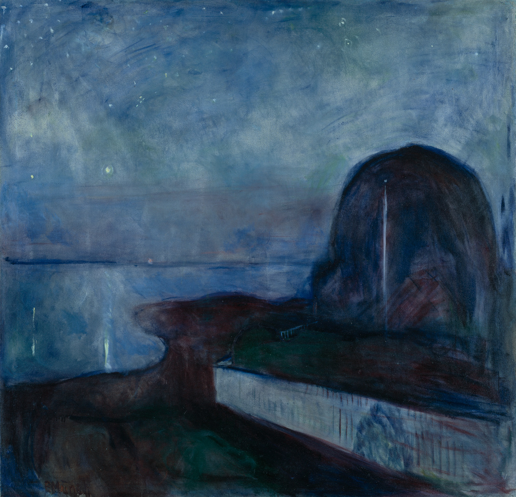 Starry Night  by Edvard Munch. Image courtesy of the Getty's Open Content Program