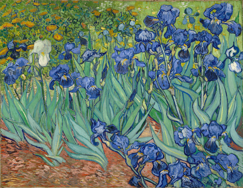 Irises  by Vincent van Gogh. Image Courtesy of the Getty's Open Content Program.