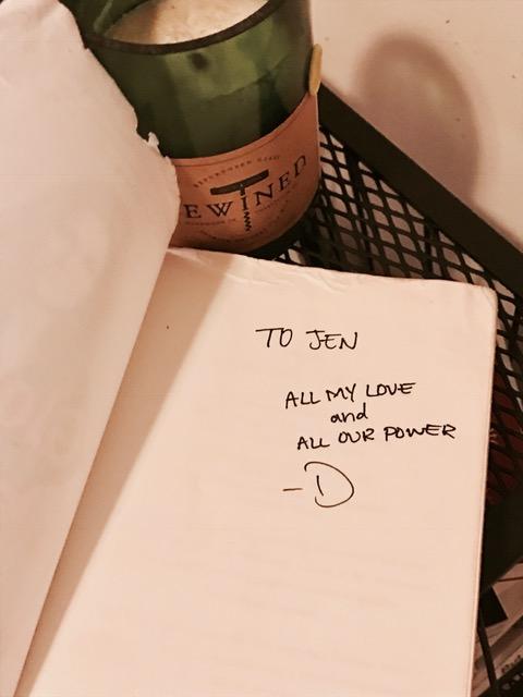 Danielle's empowering inscription.