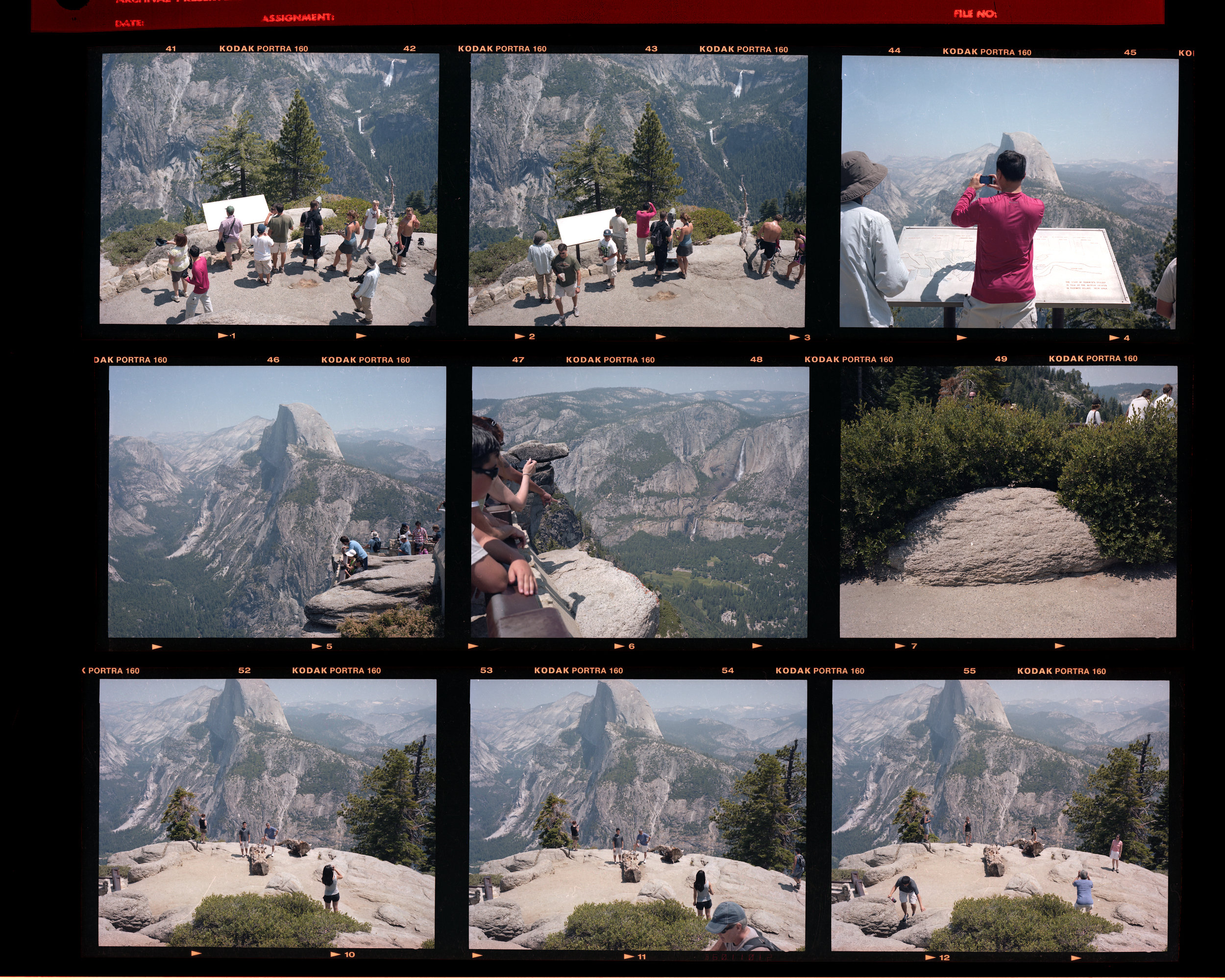 Crowds gather at Glacier Point.