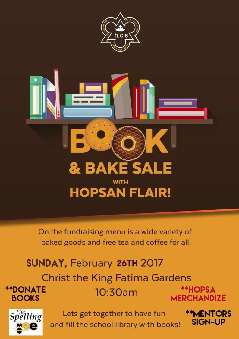 HOSPA Book and Bake Sale