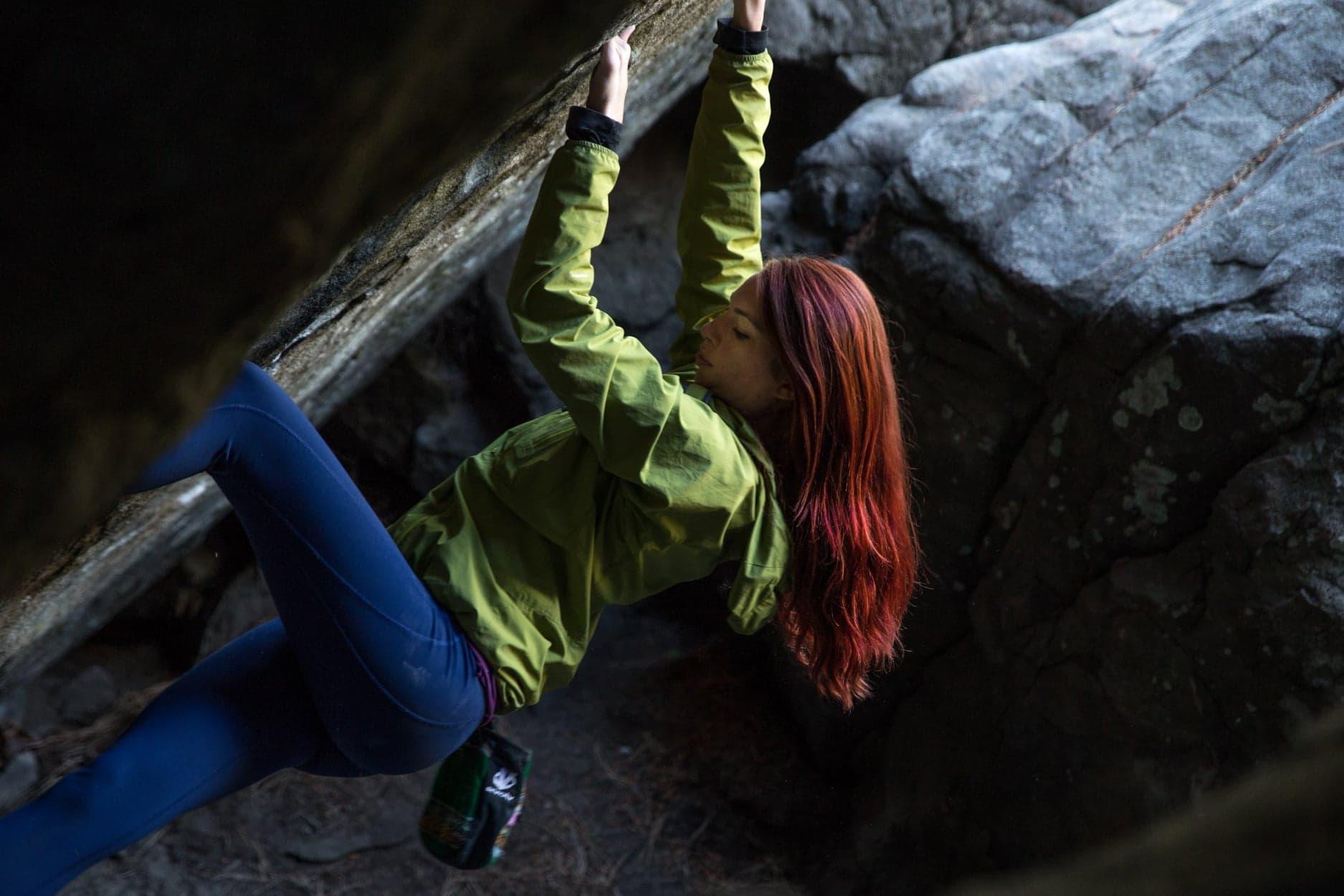 Crisp Fall air makes for perfect bouldering.