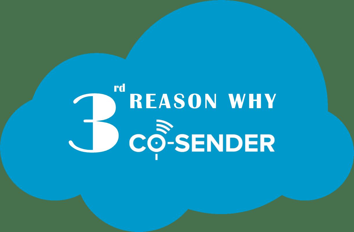3 Reason Why CO-SENDER