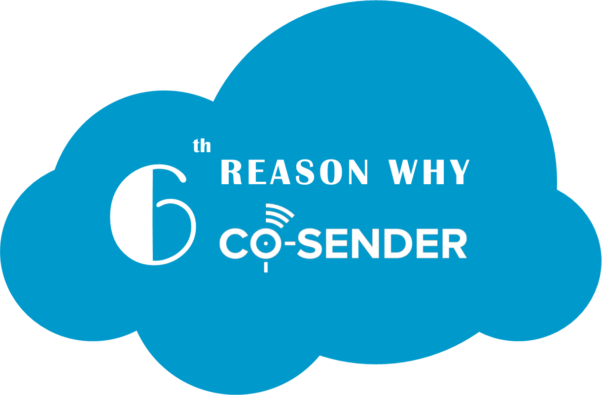 6 reason why CO-SENDER