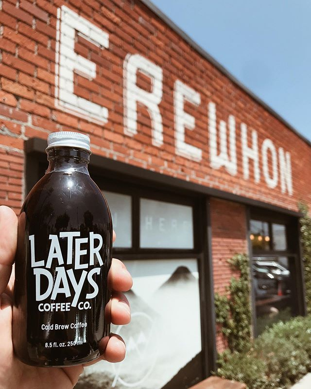 Your favorite cold brew is now available at ALL @erewhonmarket locations! (Venice, Santa Monica, Los Angeles, Calabasas & Palisades). Stop by and pick yours up today. Early Mornings Need Later Days! #erewhon #laterdayscoffeeco #coldbrew