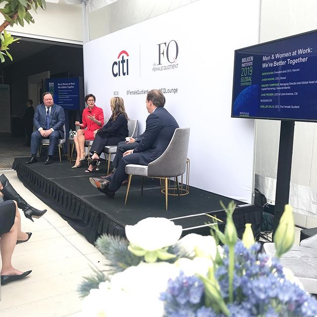 "Shout out to #MIGlobal, Jane Fraser @citi, Bob Bakish @viacom, Chieh Huang @boxedwholesale, Graves Tompkins at General Atlantic and Jane Fraser @femalequotient for candidly talking about how to get men and women to work better together. Collectively, this group of  global leaders identified creativity, integrity, boldness, an entrepreneurial spirit, ""no BS,"" dependability, empathy, adaptability, curiosity, and courage as timeless traits of successful leaders. All are traits that both women and men are equally capable of possessing. #bethechange"