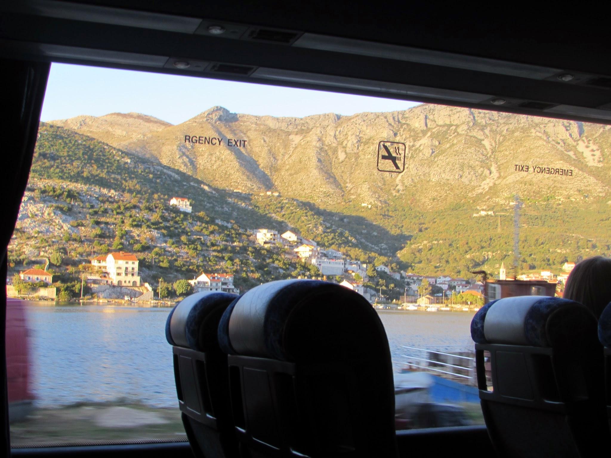 A bus ride down the Dalmatian Coast of Croatia.
