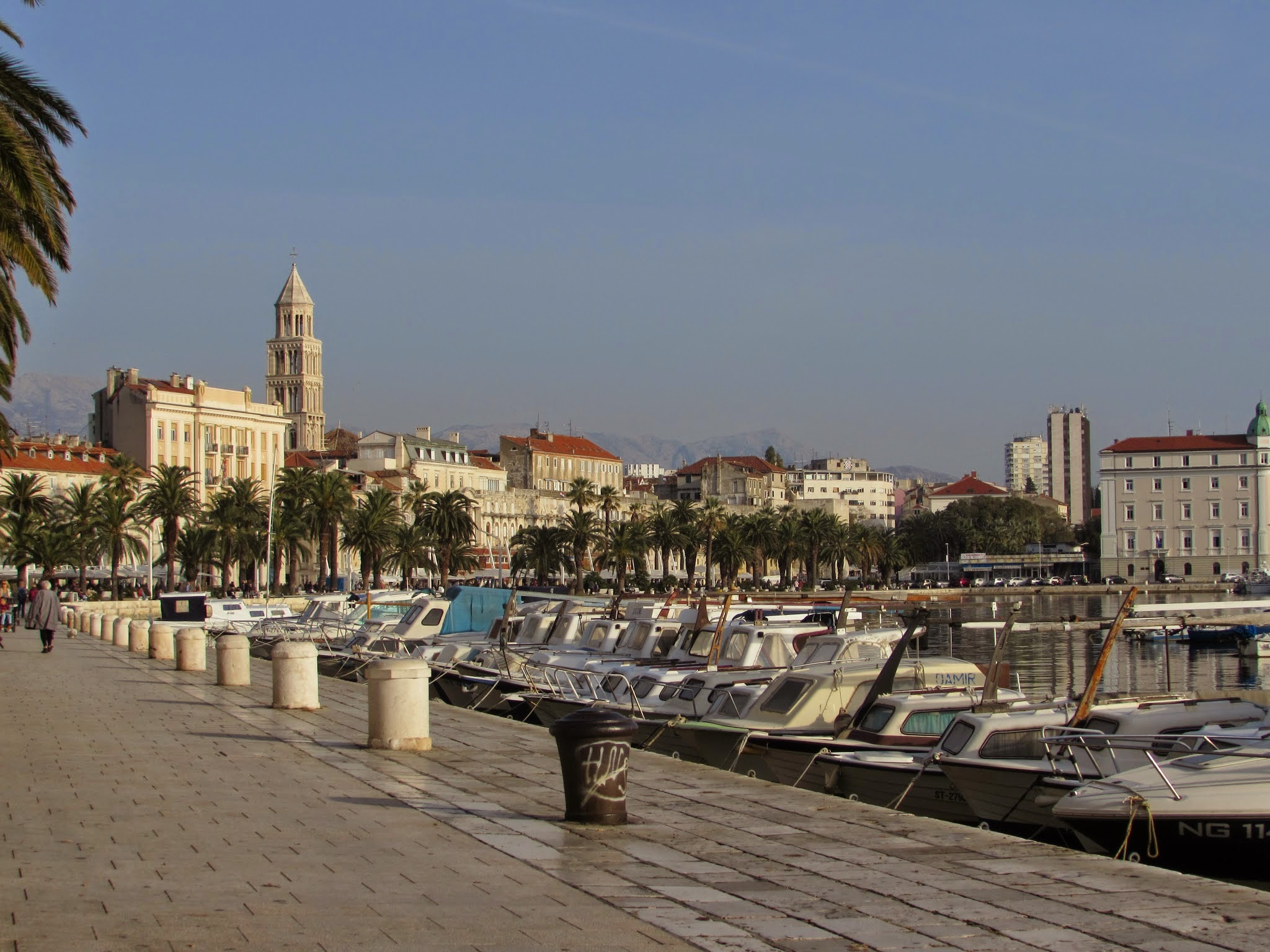 Diocletian's Palace as viewed from Split's promenade.