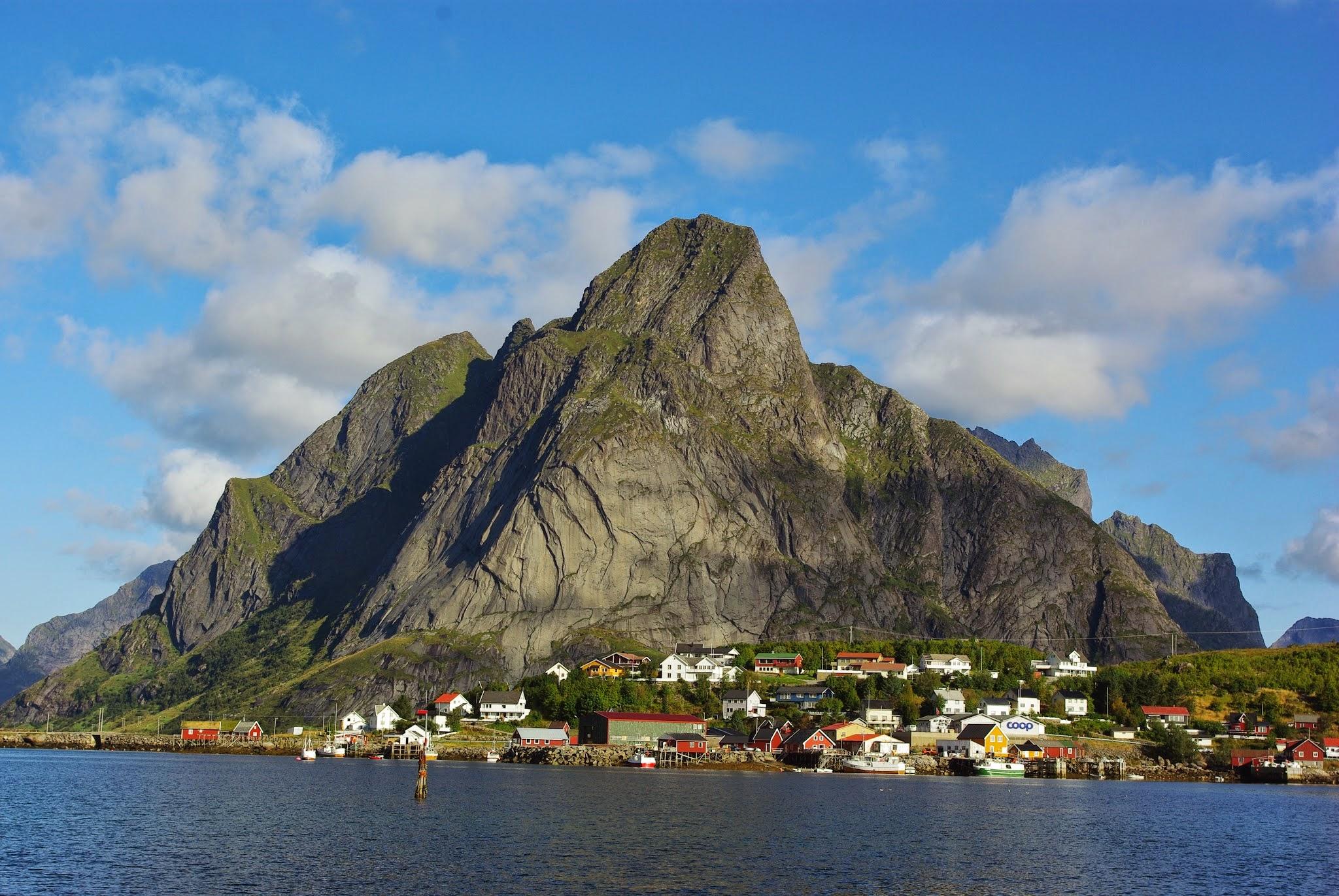 The town of Reine in Lofoten.