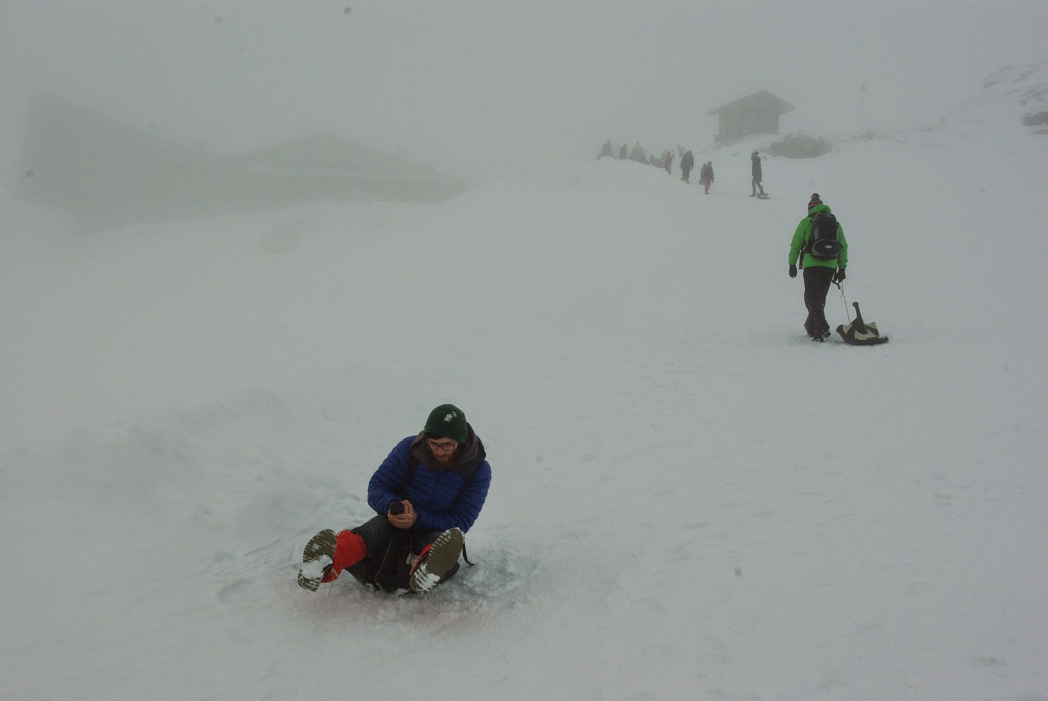 But that was fine with us because the conditions were perfect for using the free sleds!