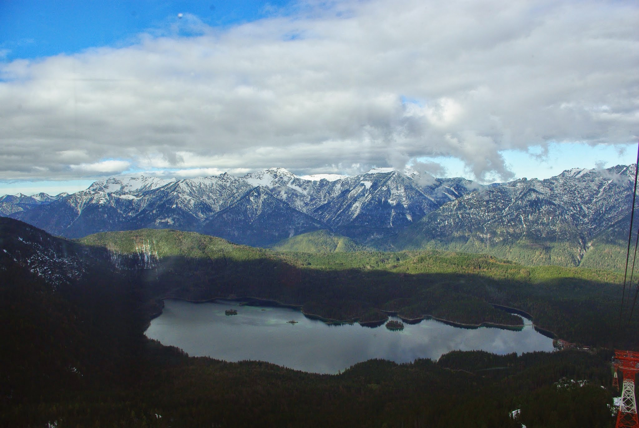 Eibsee and the Alps.