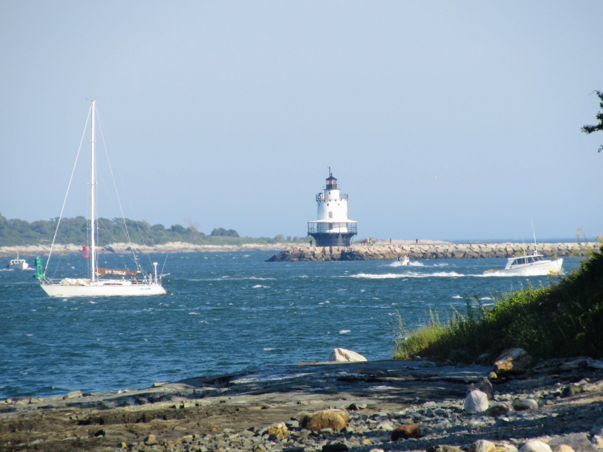 Bug Light, as seen from the Eastern Promenade