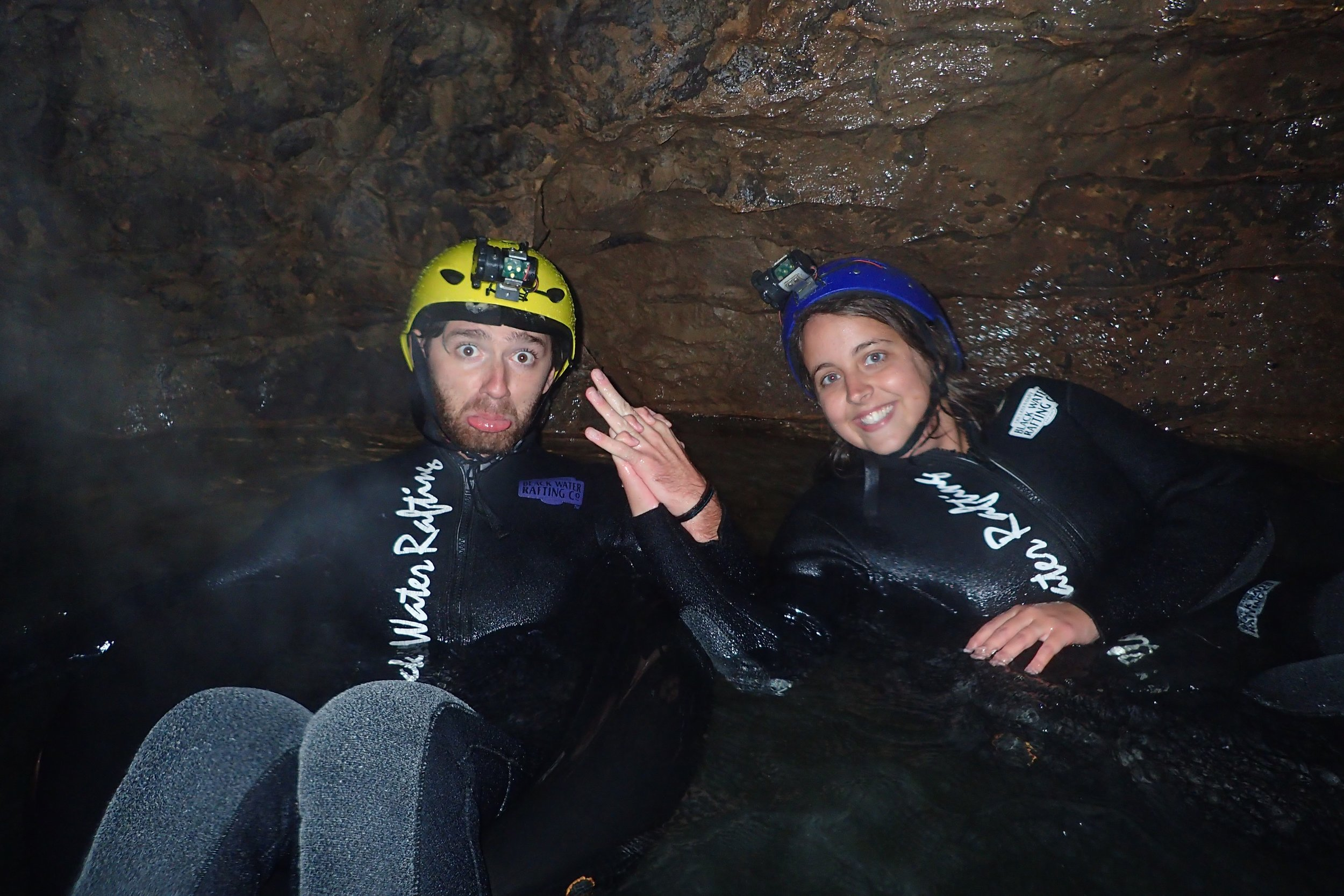 Photo taken in the cave by our guides from  The Legendary Black Water Rafting Co.