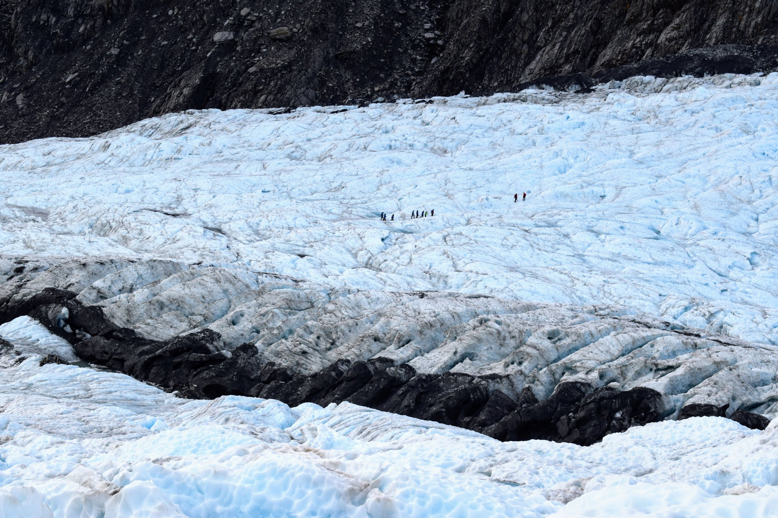 Another group hikes on Franz Josef.