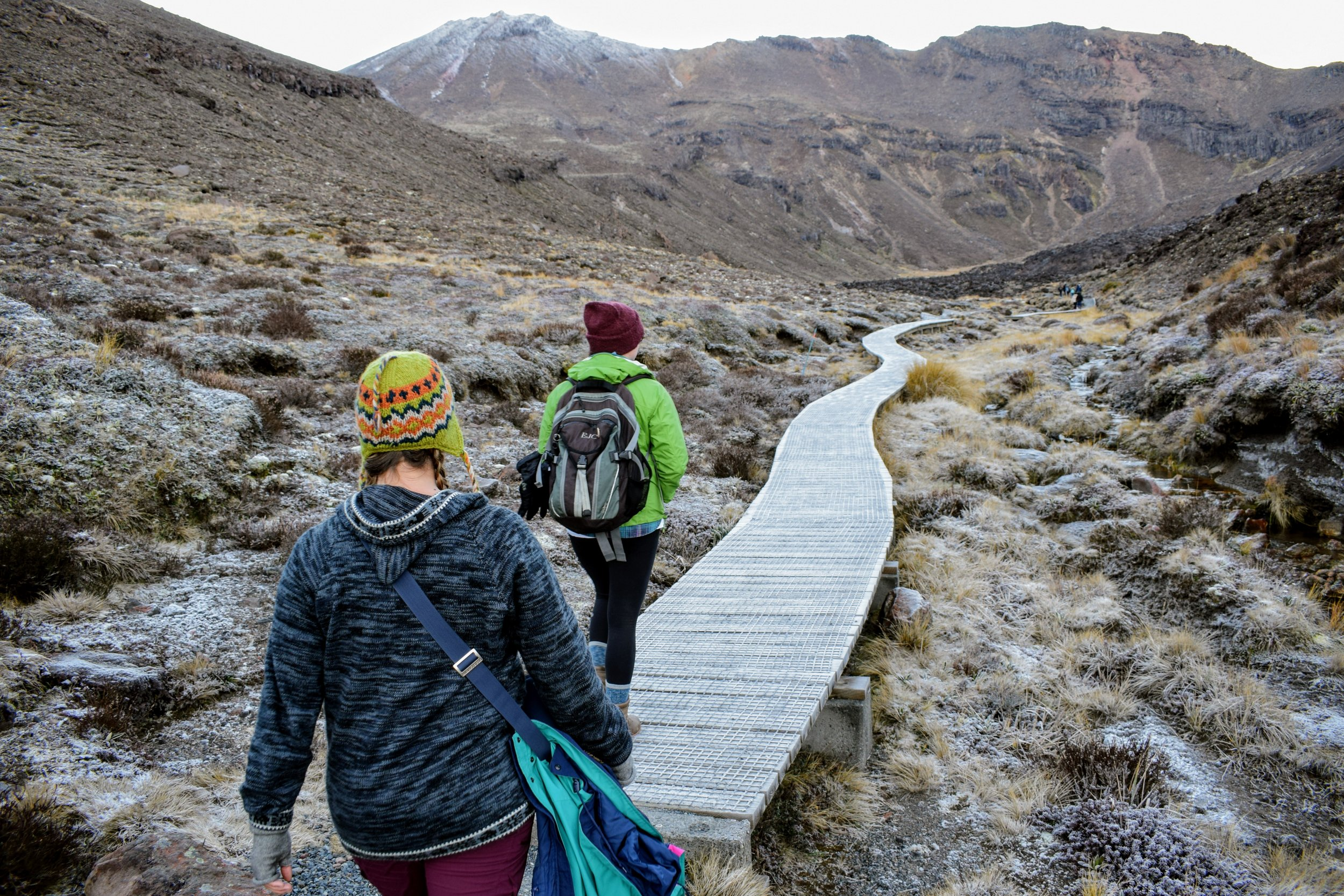 The short boardwalk on the track before the approach to Soda Springs is deceptive: the track only increases greatly in difficulty from then onwards.
