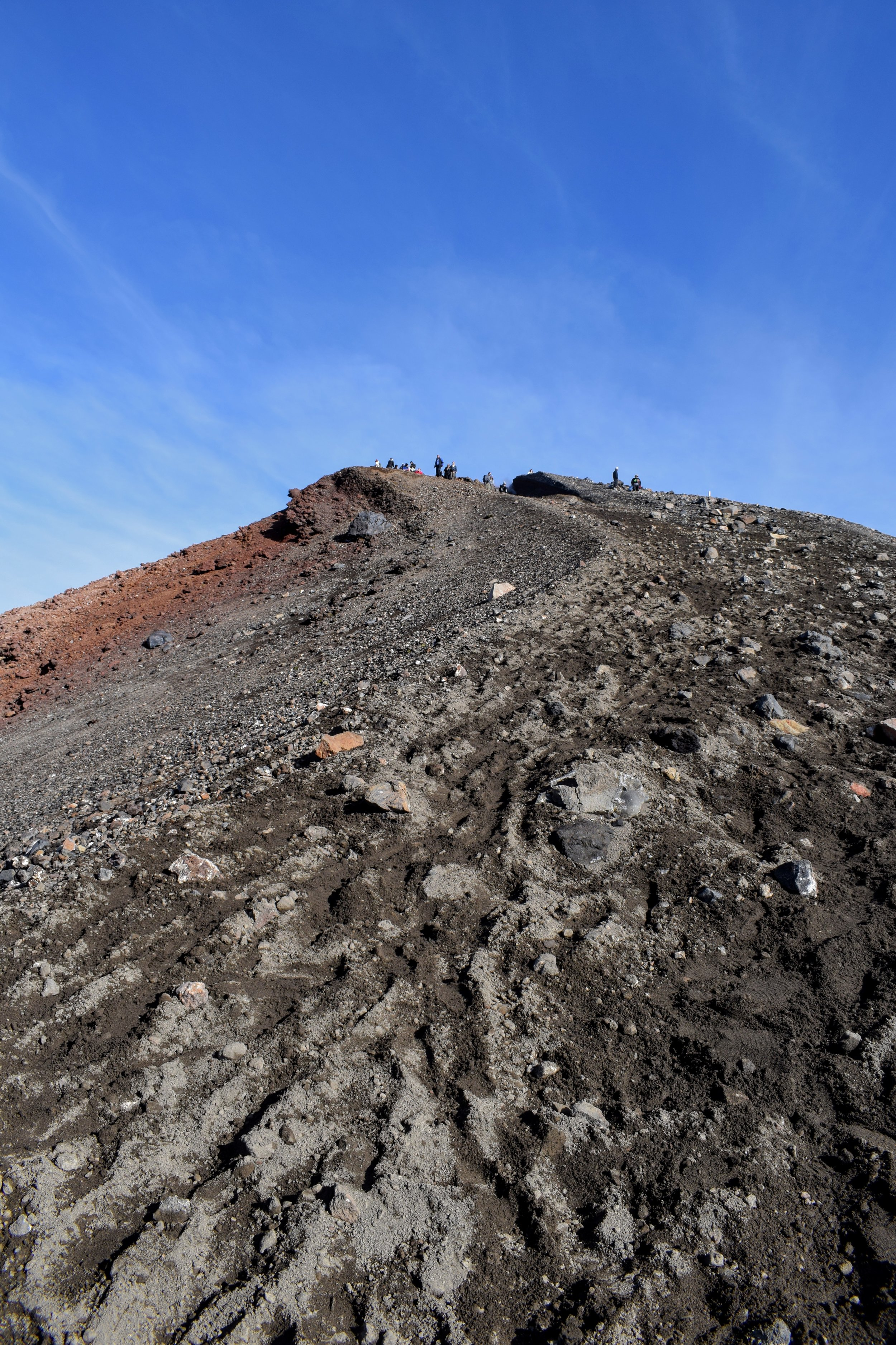 This is the view back up the insane ashy slope to the top.