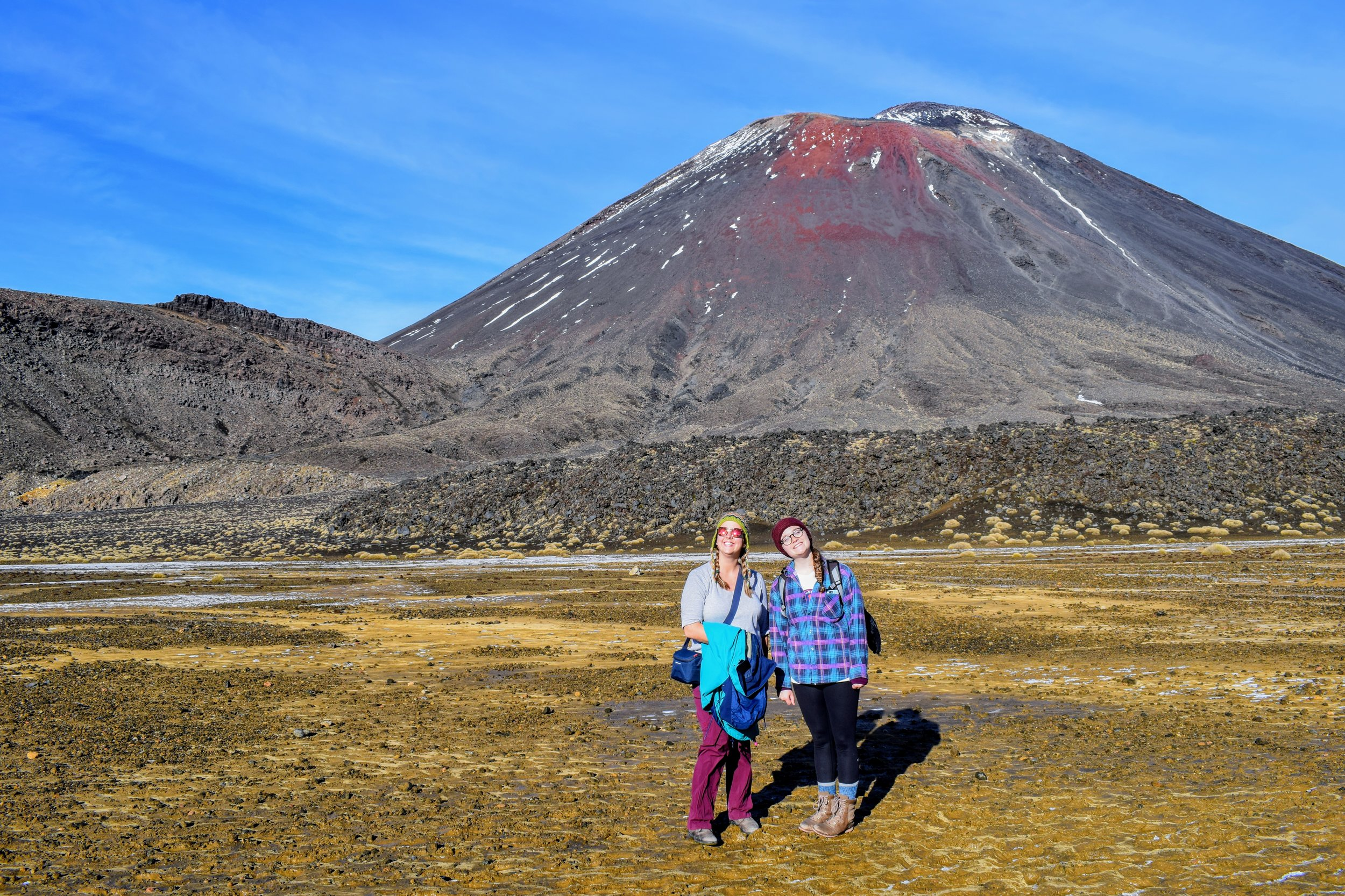 CJ and I thinking that any view of Ngauruhoe is a good view!