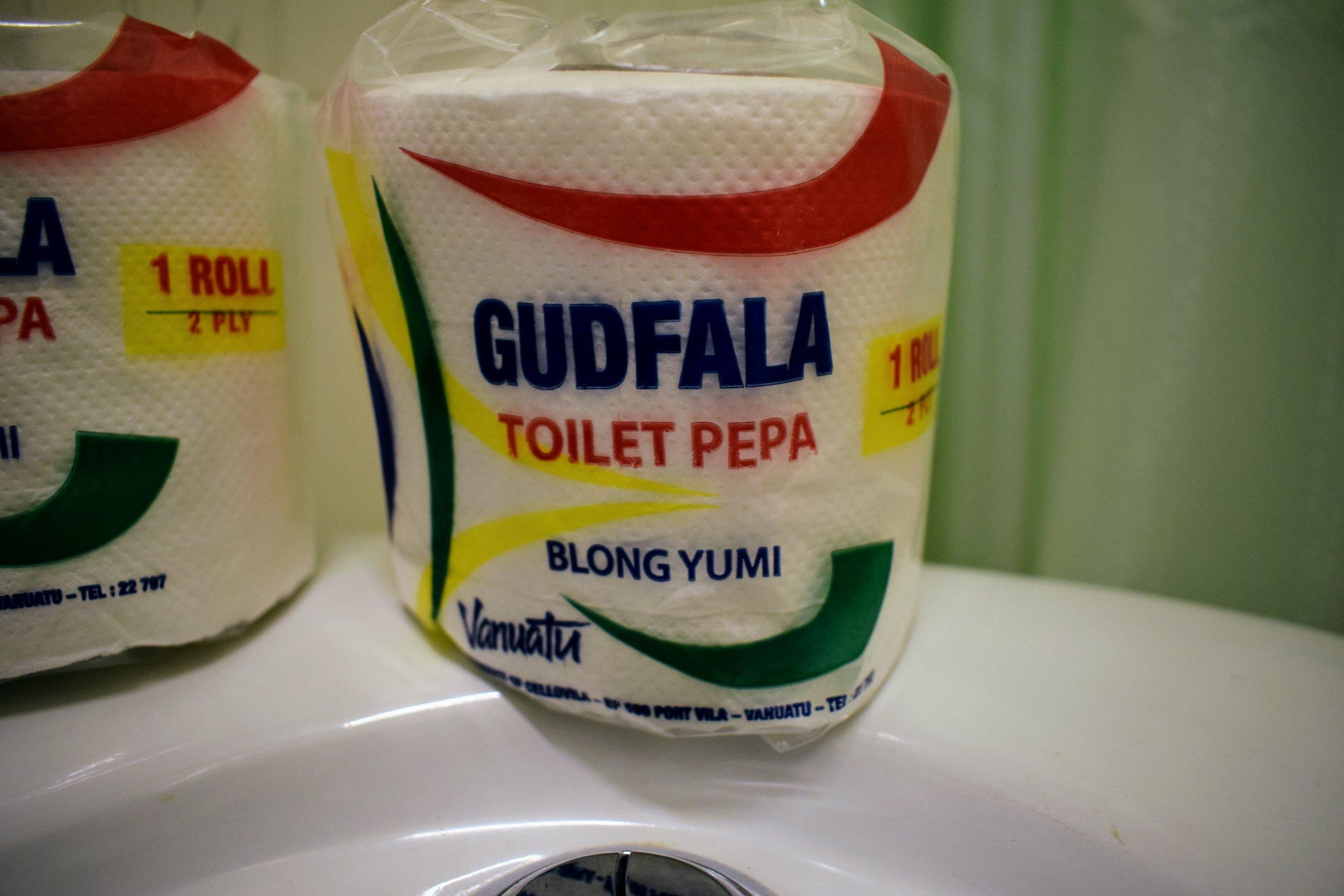 """""""Goodfellow toilet paper belongs to us."""""""