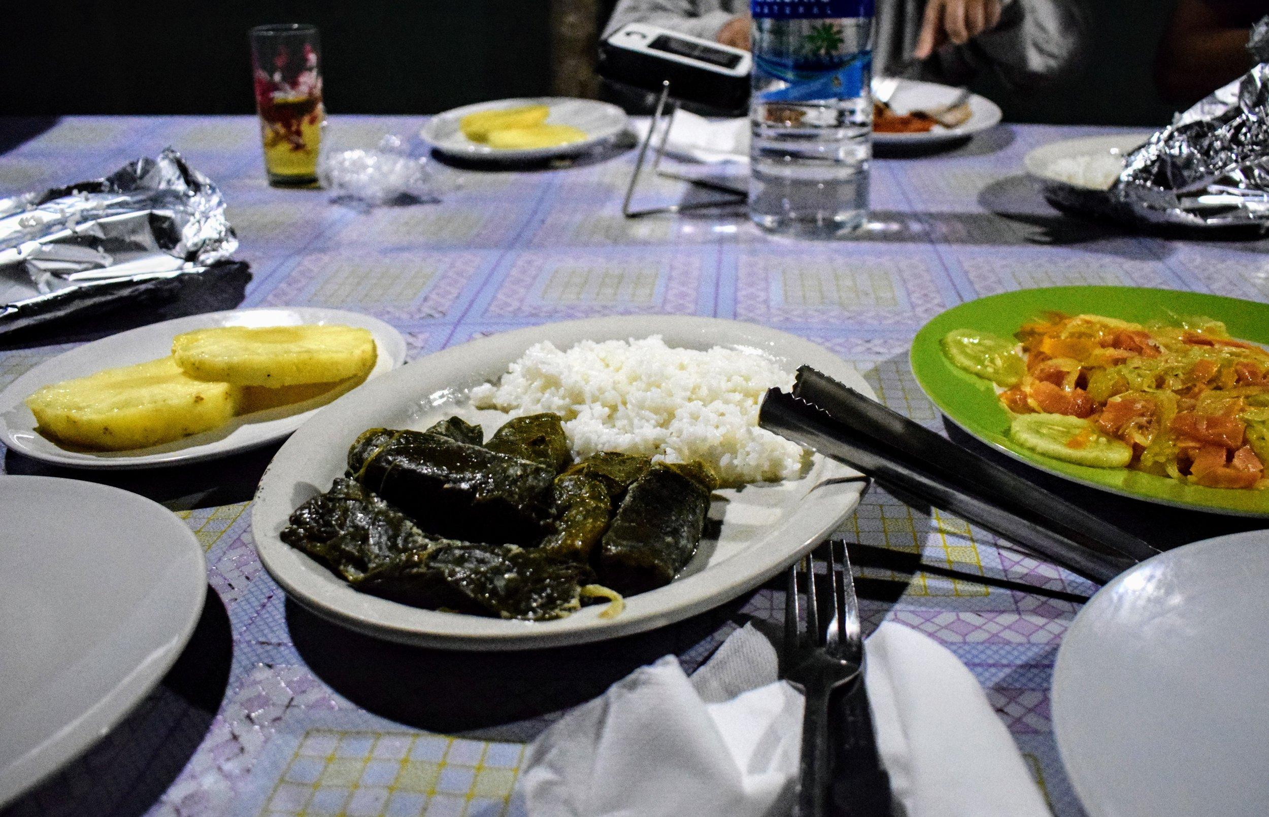 Dinnertime courtesy of Mariam.