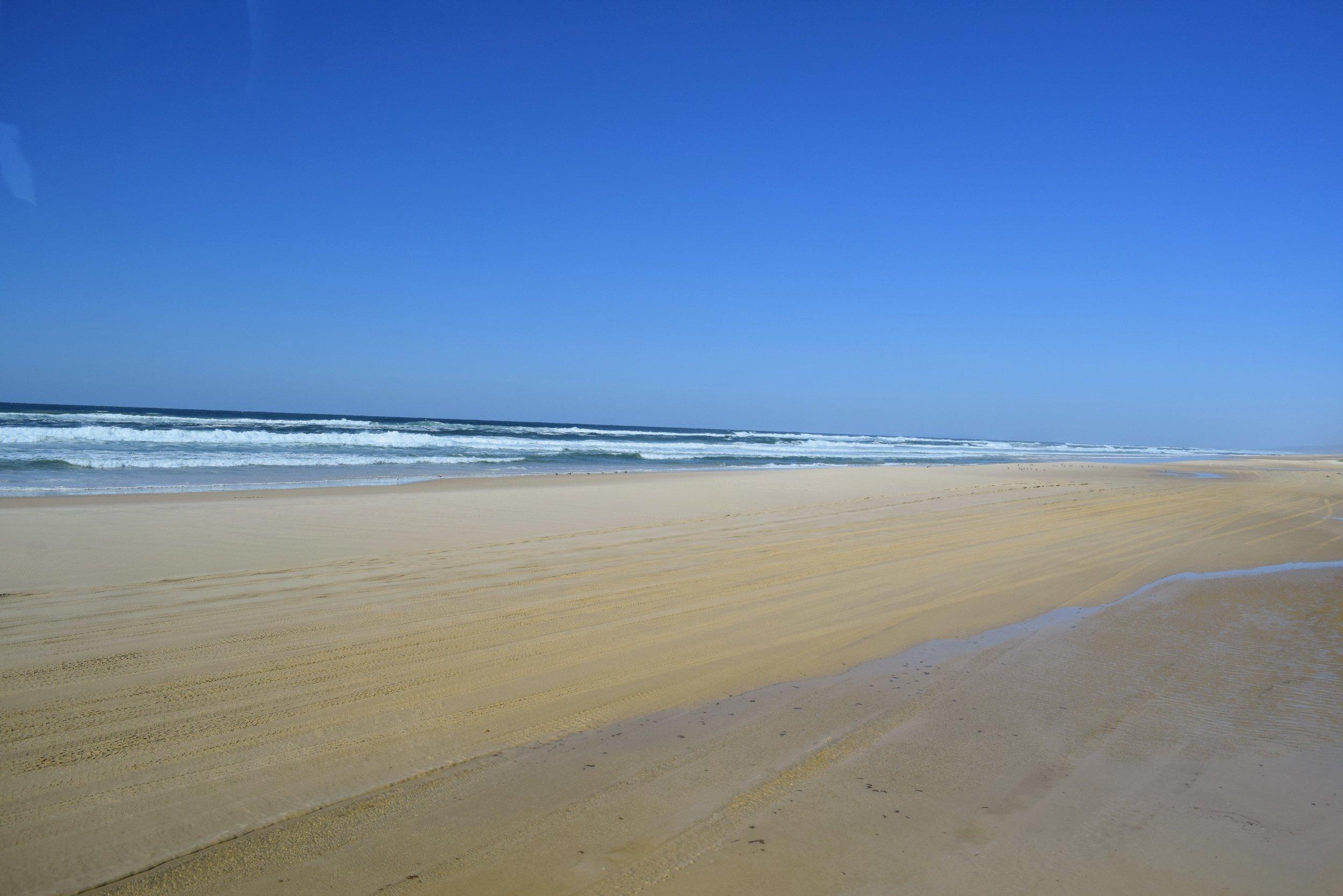 75 Mile Beach, seemingly endless