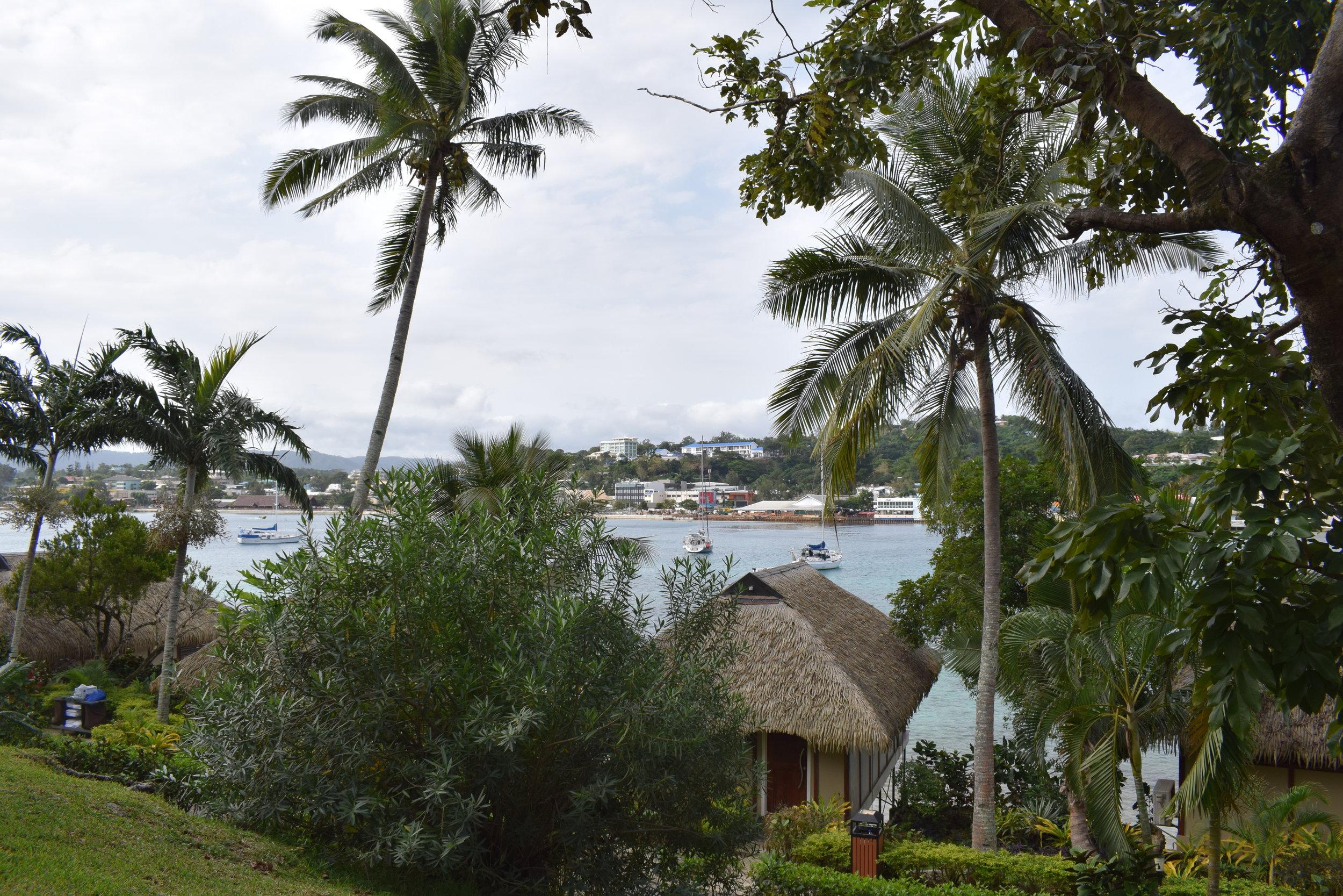 Looking back on Vila from Iririki.