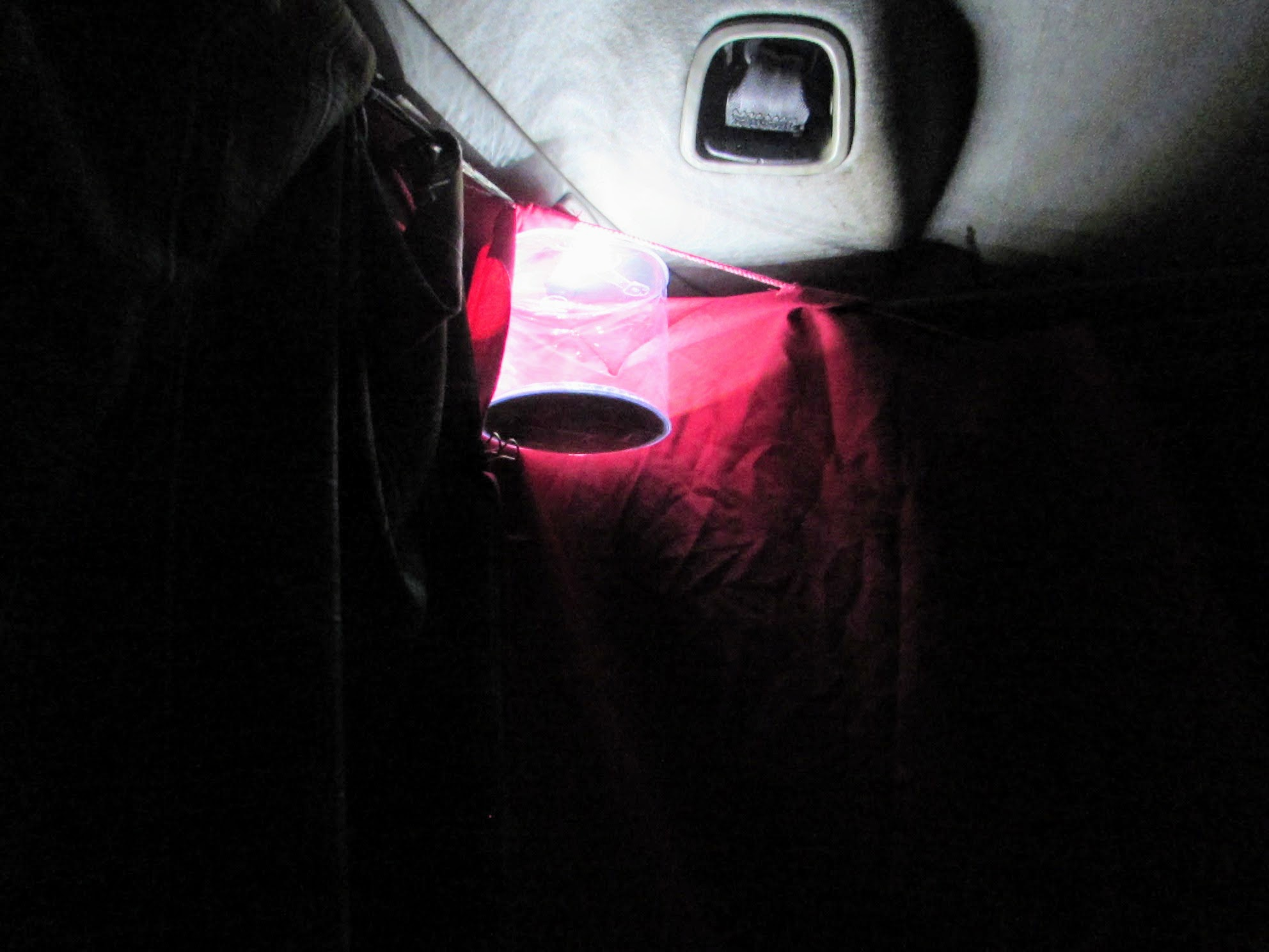 This little lantern made  all  the difference at night in the hatchback.