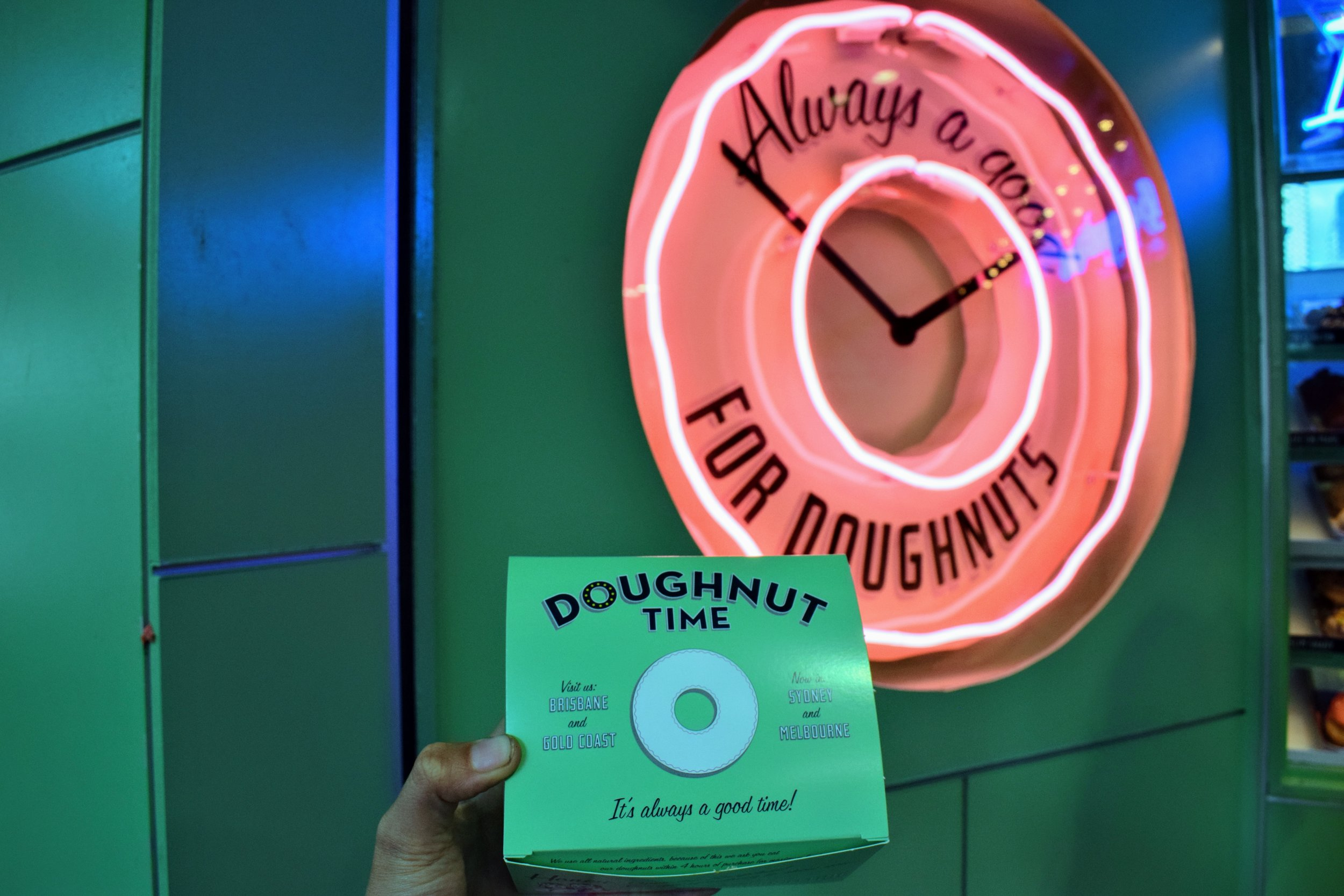 It really is always a good time for doughnuts.