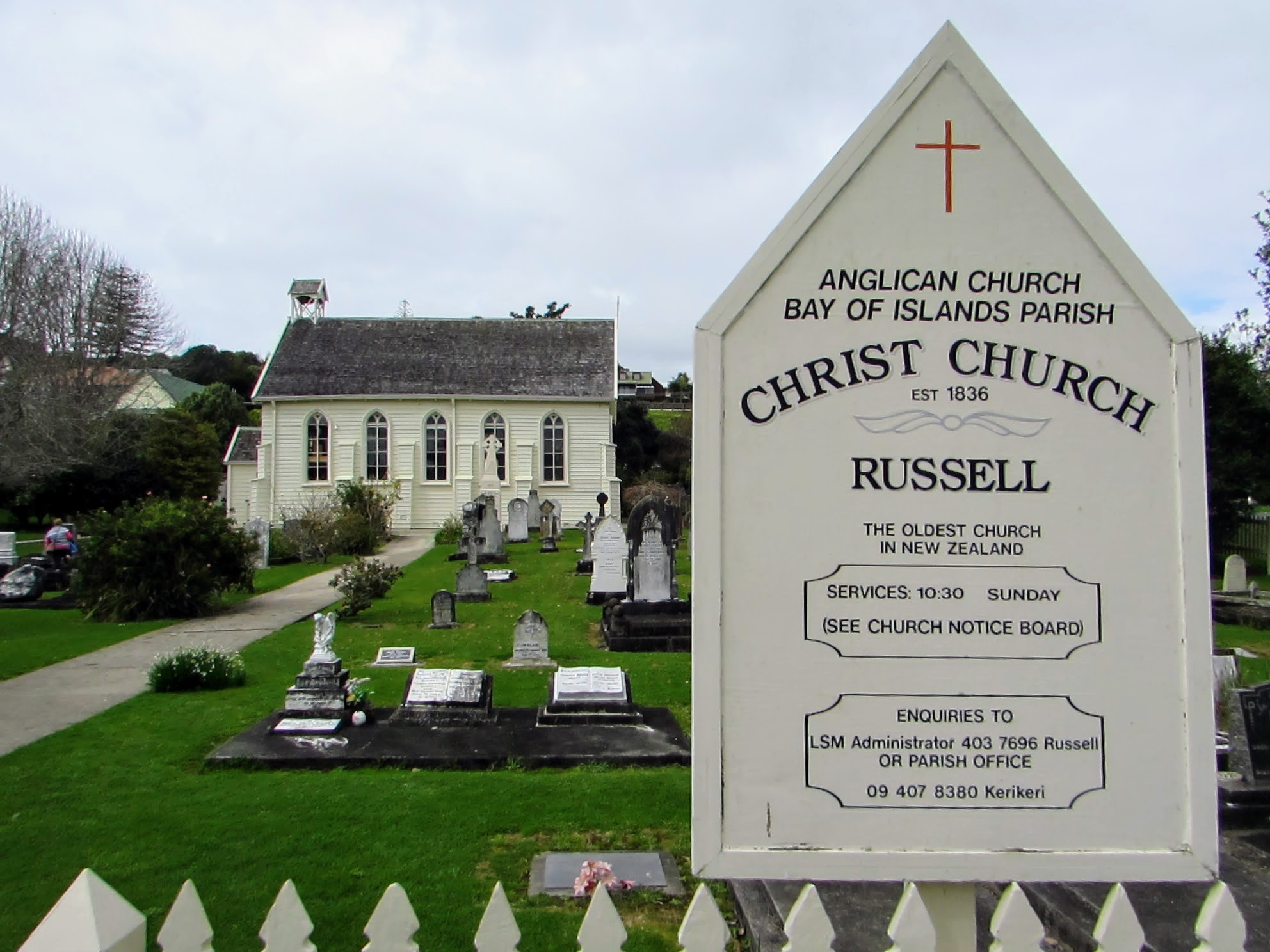 Christ Church in Russell, New Zealand