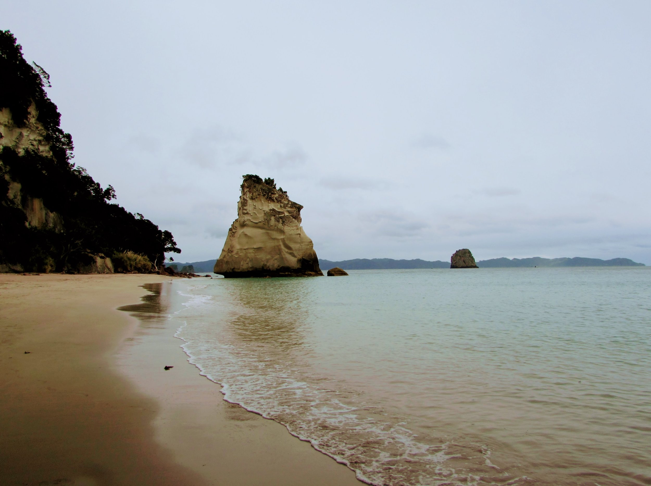 Coromandel Cove on a grey afternoon.