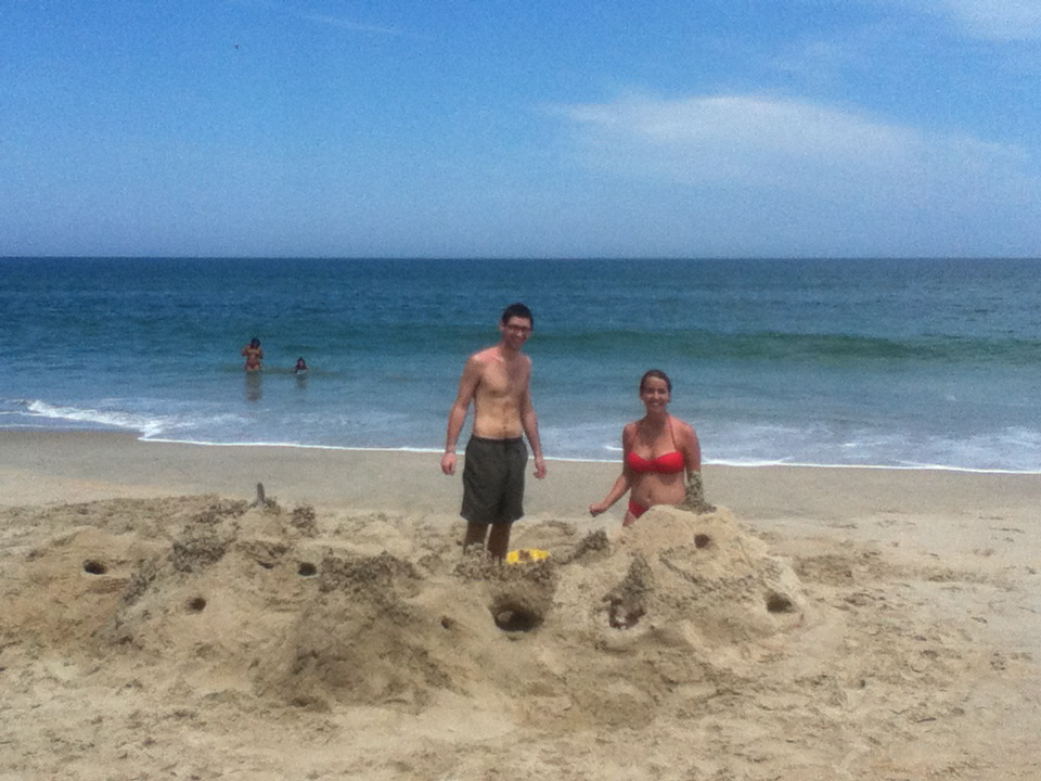 Me and Emmett building a sandcastle on the beach when he came to visit me during my internship there (2012). Sorry for the low quality, I think this was taken on an old iPad(??)